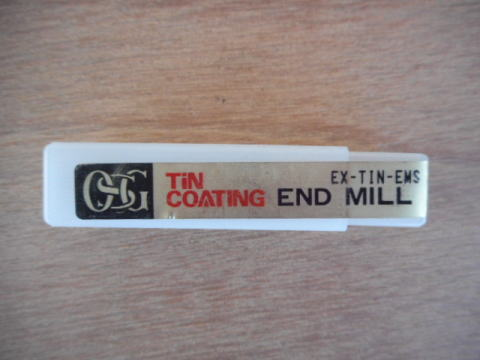 4枚刃ショートエンドミル OSG EX-TIN-EMS 7 中古