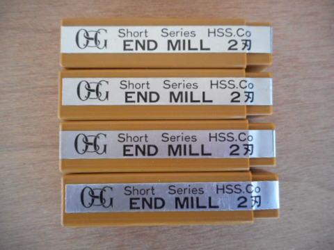 2刃ショートエンドミル OSG EDS 9中古