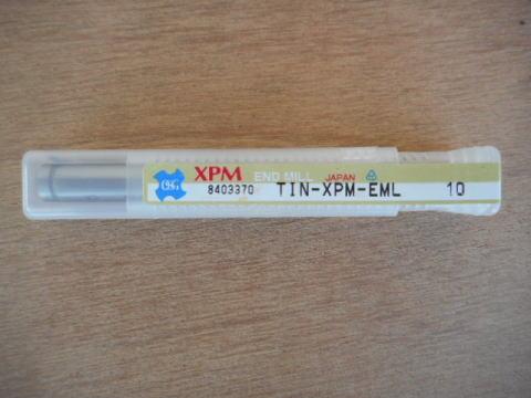 ハイススクエアエンドミル OSG TIN-XPM-EML 10 中古