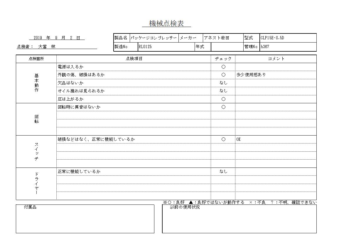 コンプレッサー アネスト岩田 CLP15E-8.5D中古